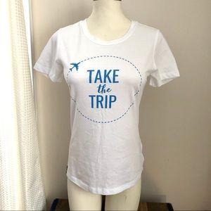 Take The Trip Graphic Cotton Tee NWT